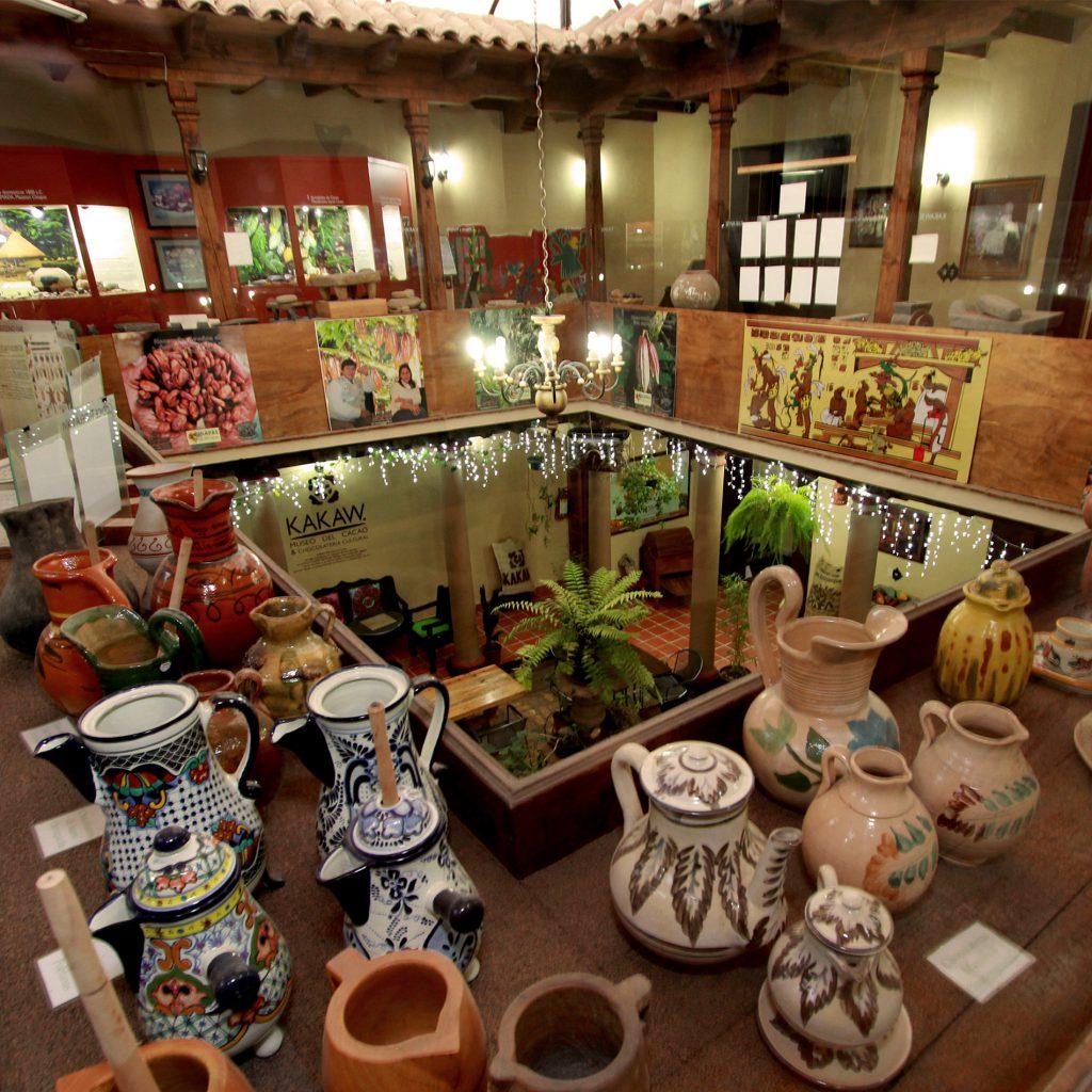 Interior de Kakaw el museo del cacao
