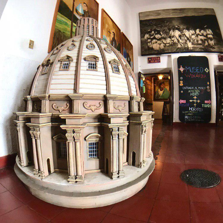 Entrada al Museo de arte Huichol